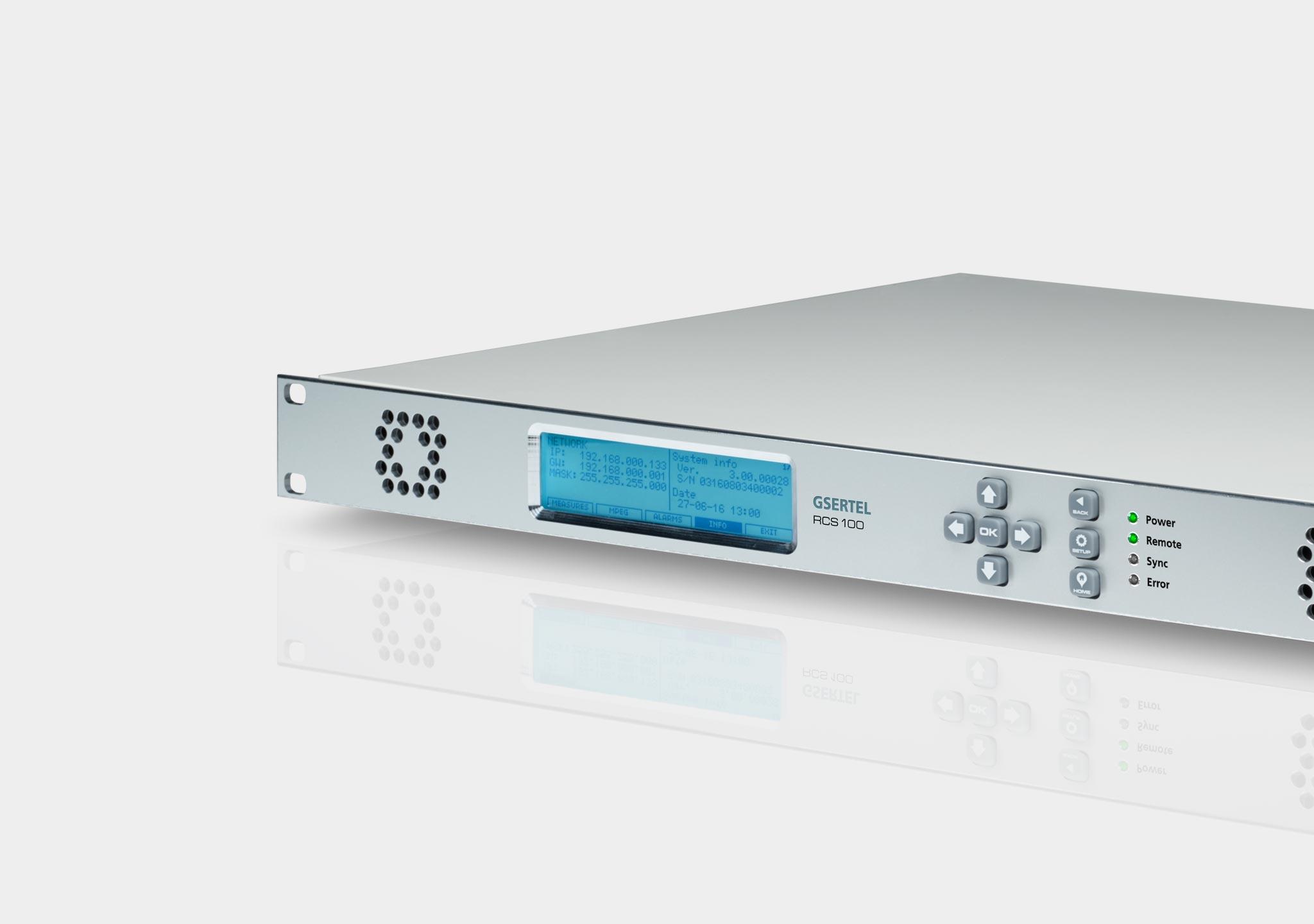 RCS 100 DVB-T/T2: Remote digital TV signal monitoring - Gsertel