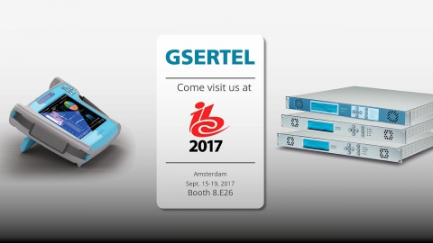 Come to visit us and explore the new concepts in measurement equipment at IBC 2017