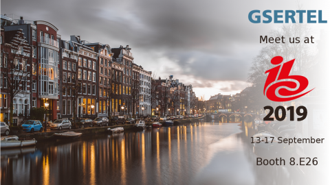 Meet us at IBC 2019 in Amsterdam