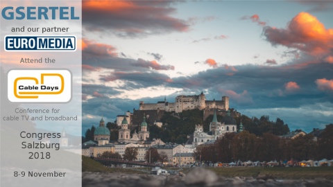 Meet us at Cable Days in Salzburg