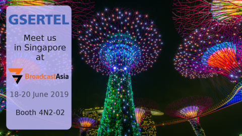 Visit Gsertel's booth in Singapore. From 18th to 20th June2019